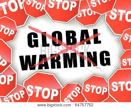 Stop Global Warming Concept