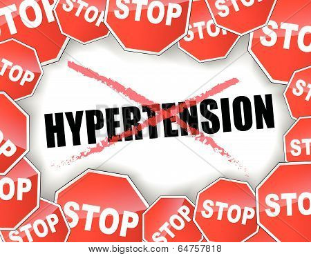 Stop Hypertension Concept