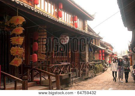 Shuhe Ancient Town In Lijiang,Yunnan,China.