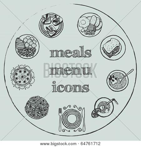 Meals Menu Elements - Icons Set 2