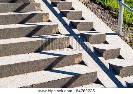 Zigzag Pattern On Stairs