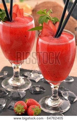 Strawberry daiquiri cocktail drink.