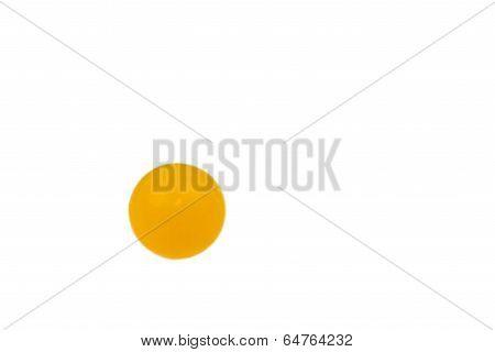 vitamin C pill (ascorbic acid) on white background