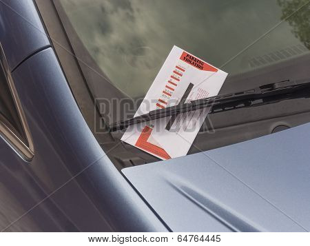parking ticket violation
