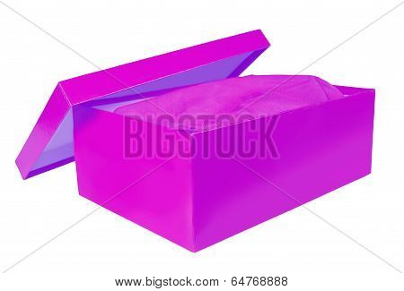 Shoebox On White Background