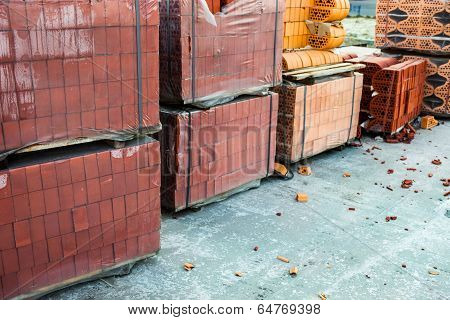 Stacks Of Silicate Bricks