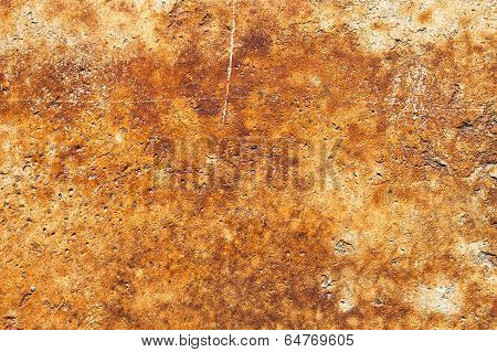 Concrete Surface With Rust