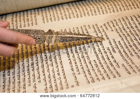 Torah Reading With A Pointer