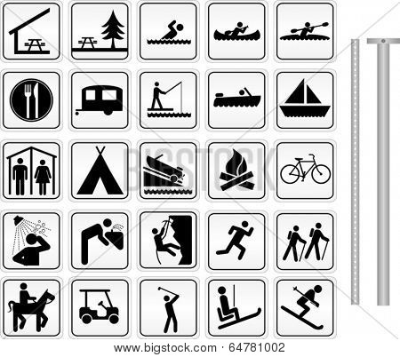 Camping, Parks and Recreation Signs
