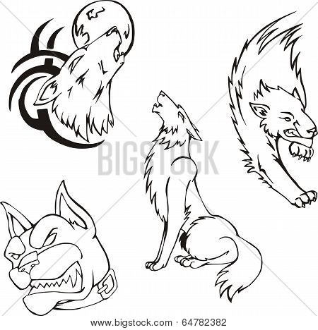 Tattoos - Wolves And Dog