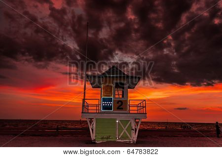 Sunset  at Lifeguard tower #2