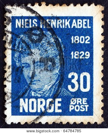 Postage Stamp Norway 1929 Niels Henrik Abel, Mathematician