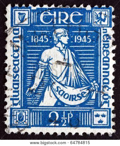 Postage Stamp Ireland 1945 Sower