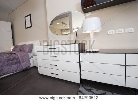 Dresser Unit In Bedroom Of Show Home