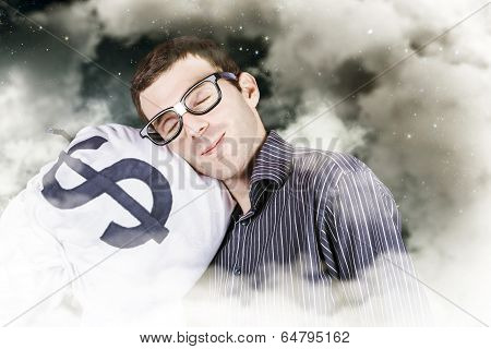 Businessman Sleeping Sound On Investment Security