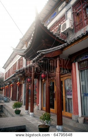 Old souvenir House In Dali Ancient Town.