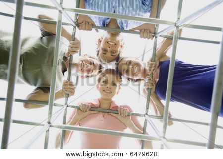 People On Playground Equipment