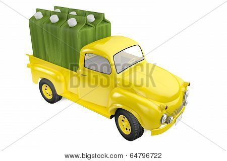 Small Lorry With Packing Of Lemon Lime Juice
