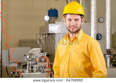 Engineer Working In Factory