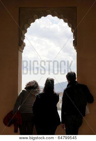 Alcazaba Of Malaga Spian