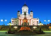 stock photo of senators  - Famous landmark in Finnish capital - JPG