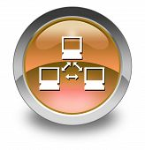 foto of vpn  - Image Illustration Image Icon Button Pictogram with Network symbol - JPG