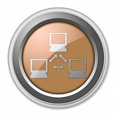 stock photo of vpn  - Image Illustration Image Icon Button Pictogram with Network symbol - JPG