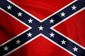 stock photo of flag confederate  - Closeup of Confederate flag - JPG