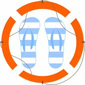Illustration Of Sandals And Lifeline poster
