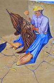 stock photo of mural  - TAOS NEW MEXICO  - JPG