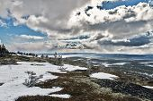 stock photo of murmansk  - Khibiny mountain range Kirovsk Murmansk region Russia - JPG