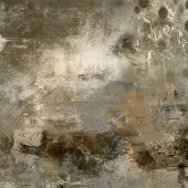 foto of acrylic painting  - art abstract monochrome acrylic background in beige - JPG