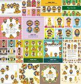 stock photo of king cobra  - Cartoon Pharaoh Card - JPG