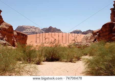 Wadi Rum Dune Landscape, Jordan