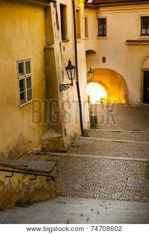 Prague, Romantic Old Castle Stairs
