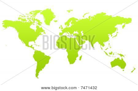 Green Map Of Planet Earth