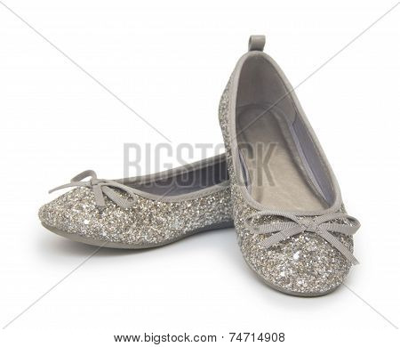 Ballet Shoes Isolated On The White Background