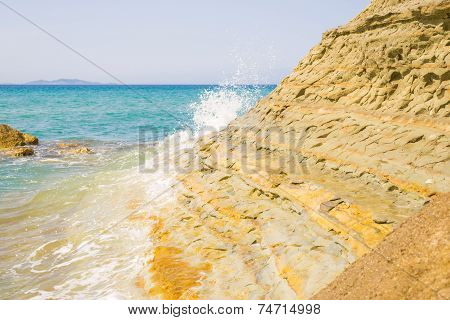 Sandy Ridge On Logas Beach At Corfu Island In Greece