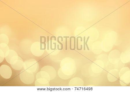 Vintage Christmas Background With Bokeh Lights. Golden Defocused Bokeh Twinkling Lights Festive Holi