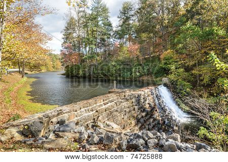 Dam on Otter Lake, Blue Ridge Parkway, Virginia