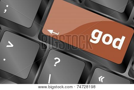 Oh My God On Computer Keyboard Key