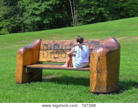 Big bench or little girl