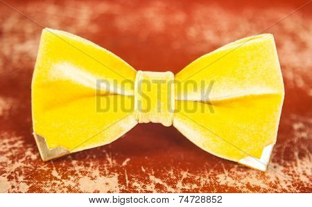 Bow Tie Yellow Color