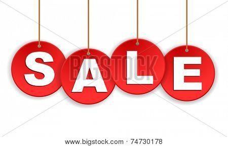 sale tags hanging - design element
