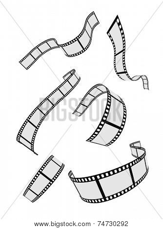 film strip roll design elements set