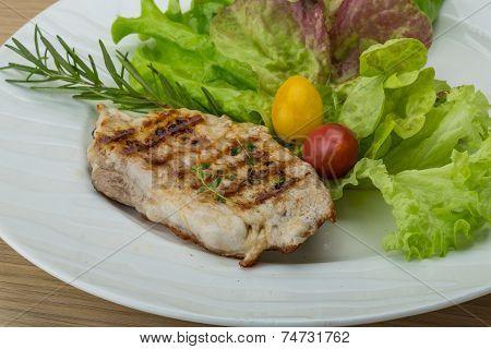 Grilled Pork Schnitzel