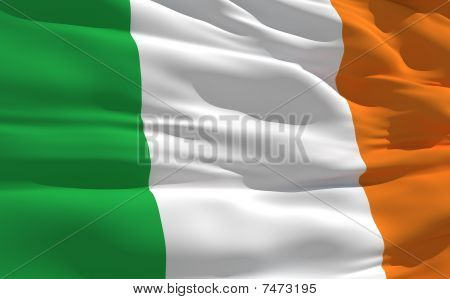 Waving Flag Of Irlande