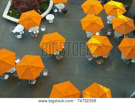 Orange Umbrellas