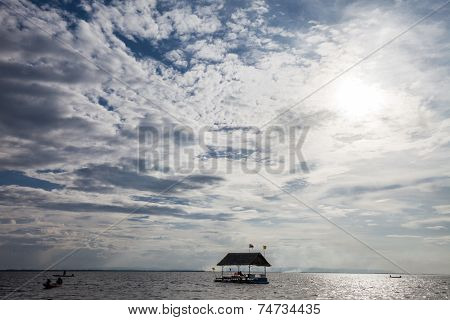 Pontoon Floating In The Water