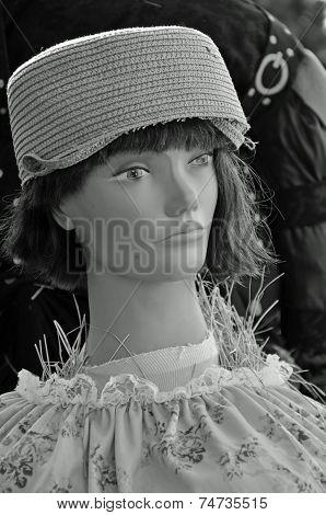 Vintage dressed scarecrow
